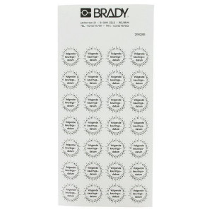 "Brady Sticker ""Keuringsdatum"" ø20 mm - WB256288"