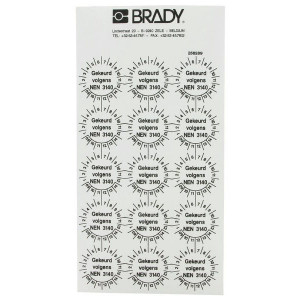 Brady Sticker NEN 3140 ø30 mm 15x - WB256289