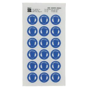 Brady Sticker gebod 24mm gehoorbesch. - WB286692 | Sticker | 24 mm