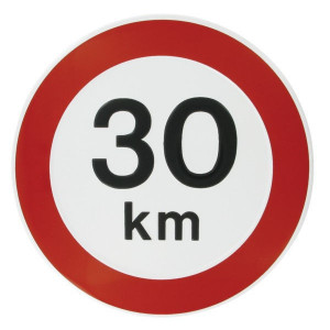 Bord 30 km Nederlands model - WB3000 | Metalen uitvoering | Metaal | 30 km/h | Ø 240 mm