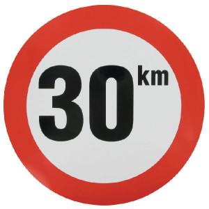 Sticker 30 km nederlands model - WB3001 | Sticker | 30 km/h | Ø 240 mm