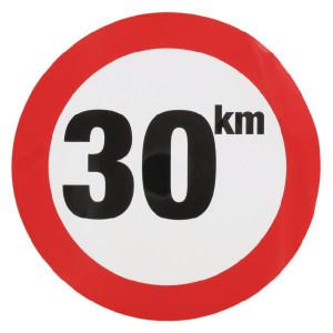 Sticker 30 km nederlands model - WB3001L | Sticker | 30 km/h | Ø 240 mm
