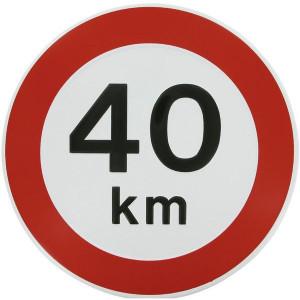 Begrenzingsbord - WB4000 | Metalen uitvoering | Metaal | 40 km/h | Ø 240 mm