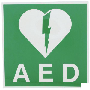 Brady Sticker 100x100mm AED - WB803816 | 100 x 100 mm