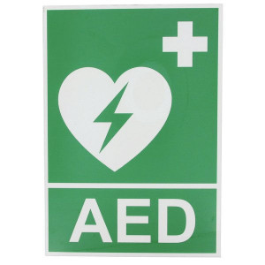 Brady Sticker 148x210mm AED - WB803830 | 148 x 210 mm