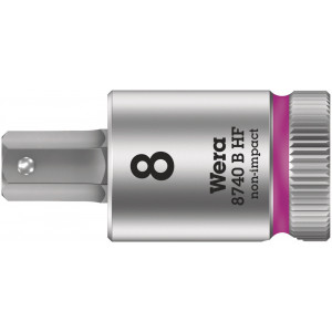"""Wera 8740 B HF Binnenzeskant Zyklop Bitdop met 3/8""""-aandrijving met vasthoudfunctie, 3 x 35 mm - 05003030001"""