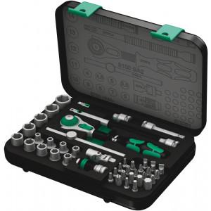 """Wera 8100 SA 2 Zyklop Speed-ratelset, 1/4""""-aandrijving, metrisch, 42-delig - 05003533001"""