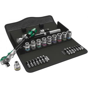 """Wera 8100 SC 6 Zyklop Speed-ratelset, 1/2""""-aandrijving, metrisch, 28-delig - 05004076001"""