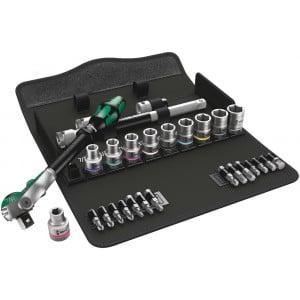 "Wera 8100 SC 9 Zyklop Speed-ratelset, 1/2""-aandrijving, inch, 28-delig - 05004079001"