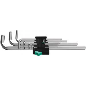 Wera 950/9 Hex-Plus 2 Stiftsleutelset, metrisch, verchroomd, 9-delig - 05021909001