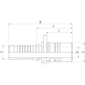 Cejn Pilaar DN20-Ø23mm + o-ring - WEO147161222 | 31,2 mm | 350 bar
