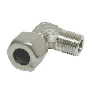 Dicsa Haakse inschroefkoppeling RVS - WEV10SM16RVS | RVS 316L | 10 mm | 400 bar | M 16 x 1,5 metrisch