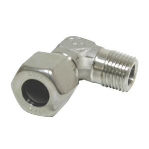 Dicsa Haakse kopp. 8L M12 RVS - WEV8LMK12RVS | RVS 316L | 8 mm | 315 bar | M 12 x 1,5 metrisch