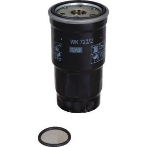 MANN-FILTER Brandstofwisselfilter - WK7202X | 63 mm C | 123 mm H | 3/4-16 UNF G | M 36 X 1.5 F | WK 720/2 x | WK 720/2 x | 123 mm | M 36 X 1.5