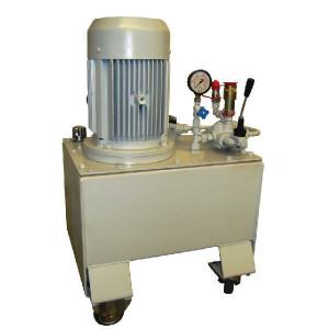 Werkplaatsaggregaat 35 ltr-12l/min-4kW/400V - WP85A001 | 35 l ltr. | 12 l/min | 180 bar | 400/690V 50Hz | 8 cc/omw | 4 kW | 520 x 470 x 800 mm