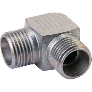 Voss Haakse koppeling 22L - WS22L | Minder kans op lekkage | DIN 2353. | Zink / Nikkel | 22 mm | M30x2 metrisch | 27,5 mm | 250 bar
