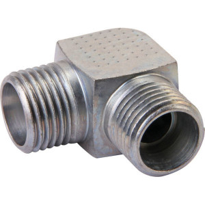 Voss Haakse koppeling 8S - WS8S | Minder kans op lekkage | DIN 2353. | Zink / Nikkel | 8 mm | M16x1,5 metrisch | 17,0 mm | 800 bar