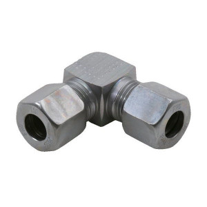 Voss Haakse koppeling 10S - WV10S | 2S snijring | DIN 2353 | Zink / Nikkel | 10 mm | 800 bar