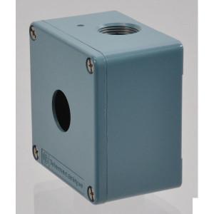 Schneider-Electric Drukknopkast, metaal, 1 gat - XAPM1201 | 80 mm | 80 mm | 51,5 mm