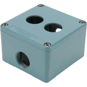 Schneider-Electric Drukknopkast, metaal, 2 gat - XAPM1202 | 80 mm | 80 mm | 51,5 mm
