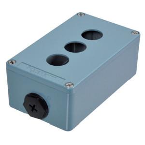 Schneider-Electric Drukknopkast, metaal, 3 gat - XAPM2203 | 130 mm | 80 mm | 51,5 mm