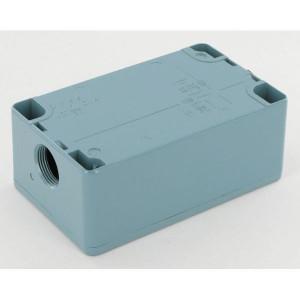 Schneider-Electric Drukknopkast, metaal, 4 gat - XAPM2204 | 130 mm | 80 mm | 51,5 mm