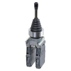 Schneider-Electric Joystick, 4 richt., veerkabel m. contact - XD4PA24 | Compleet met contacten | 0,5 A DC-13 24V | 1*10E6 schakelingen | 2x 1,5 mm² mm2 | 4 A AC-15 24V