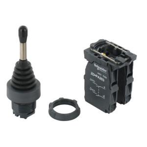 Schneider-Electric Joystick 4 pos 4xNO - XD5PA24 | 0,5 A DC-13 24V | 1x10E6 schakelingen | 4 A AC-15 24V