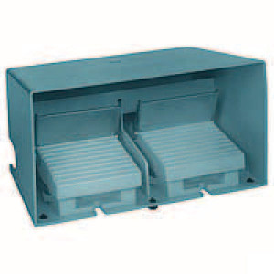 Schneider-Electric Pedaalschakelaar dubbel metaal - XPEM5110D | 2x PG16 | 0,27 A DC-13 220V | 15x10E6 schakelingen