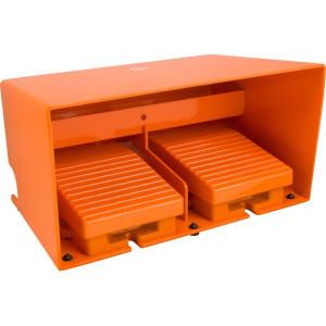 Schneider-Electric Pedaalschakelaar dubbel metaal - XPER3110D | 2x PG16 | 0,27 A DC-13 220V | 15x10E6 schakelingen