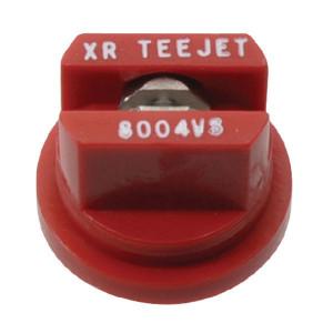 TeeJet Spleetdop XR 80° rood RVS - XR8004VS | Zeer goede slijtvastheid | 1 4 bar | 8 mm | 80°