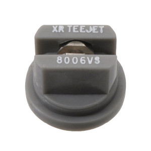 TeeJet Spleetdop XR 80° grijs RVS - XR8006VS | Zeer goede slijtvastheid | 1 4 bar | 8 mm | 80°