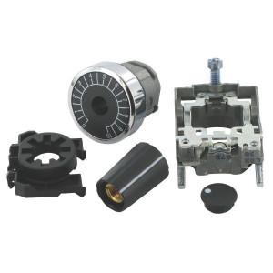 Schneider-Electric Potentiometer knop en voet - ZB4BD912