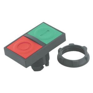 Schneider-Electric Dubbele drukknop, groen/ rood - ZB5AA8234