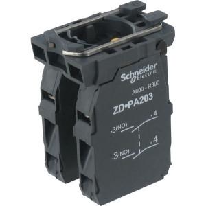 Schneider-Electric Contactelement cpl 4 pos - ZD5PA203 | 0,5 A DC-13 24V | 1x10E6 schakelingen | 4 A AC-15 24V
